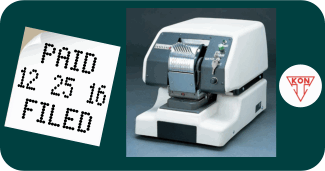 New Kon 112-905 Date and Text Perforator