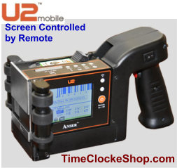 Anser U2Mobile Screen Control - InkJet Print Coding Rollers