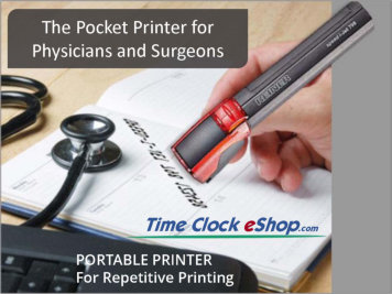 Pocket Printer for Medical Forms Time Date Stamper for Physicians and Surgeons