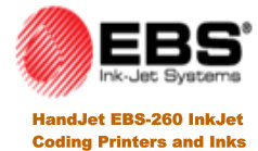 EBS Ink-Jet Systems HandJet EBS-260 Printers and Inks