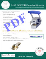 New Kon SecureSeal 60 Corporate Seal Embosser brochure