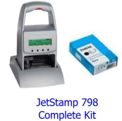 Reiner Jetstamp 790 Portable Date Stamp Inkjet Package And