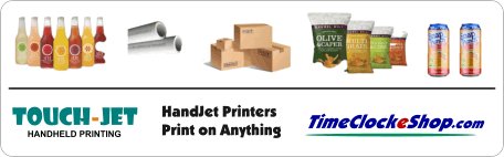 Inkjet Print on Anything TouchJet One Hand Printer